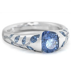 Shining Exquisite Alloy With Zircon Rings