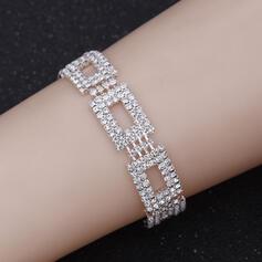 Fashionable Link & Chain Alloy Rhinestones Bracelets