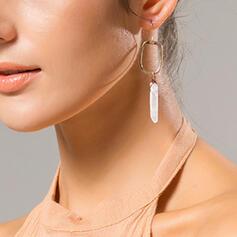 Charming Elegant Natural Stone Alloy Earrings (Set of 2)