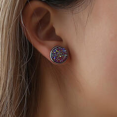 Shining Simple Stainless Steel Earrings (Set of 2)