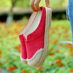 Women's Fabric Nylon Flat Heel Flats Slide & Mules With Splice Color shoes