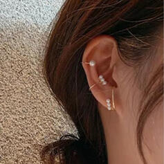 Simple Hottest Alloy With Imitation Pearl Earrings (Set of 3)