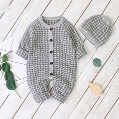 Baby Plaid Solid Cotton One-piece