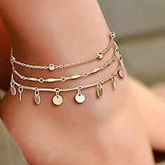 Infinity Layered Alloy Anklets 3 PCS