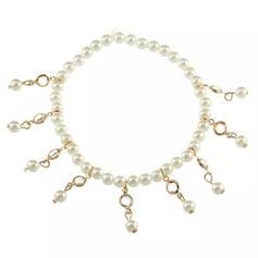 Unique Elegant Tassels Design Alloy Rhinestones Pearl With Rhinestones Pearls Women's Anklets 1 PC