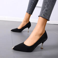Women's PU Stiletto Heel Pointed Toe With Rivet shoes