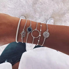 Flower Shaped Alloy Women's Bracelets (Set of 6)