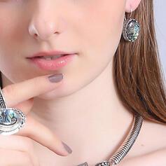 Fashionable Alloy Glass Earrings (Set of 2)