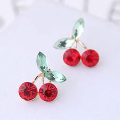 Cherry Alloy Rhinestones With Rhinestone Women's Earrings (Set of 2)