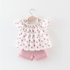 2-pieces Toddler Girl Floral Print Cotton Set