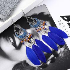 Exotic Alloy Feather Women's Earrings