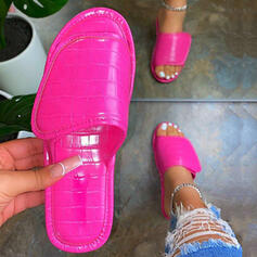 Women's Velvet Flat Heel Slippers With Solid Color shoes