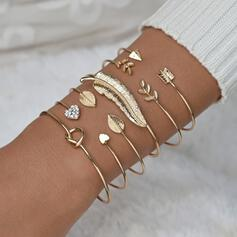Simple Attractive Alloy With Feather Jewelry Sets Bracelets (Set of 6)