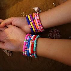 Exotic Boho Soft Clay Elastic Rope Bracelets (Set of 10)