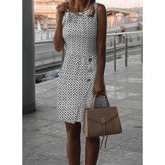 Print Sleeveless Bodycon Above Knee Casual Dresses