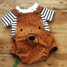2-pieces Baby Boy Bear Striped Print Cotton Set