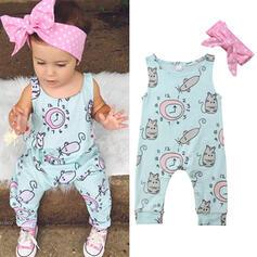 2-pieces Baby Girl Cartoon Print Cotton Set