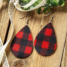 Drop Shape Christmas PU Women's Earrings 2 PCS
