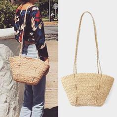 Vintga/Commuting/Bohemian Style/Braided/Simple Shoulder Bags/Beach Bags/Bucket Bags/Hobo Bags