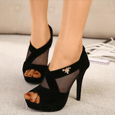 Women's PU Stiletto Heel Peep Toe With Hollow-out shoes