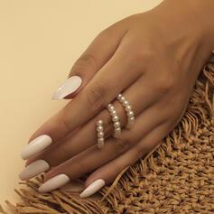 Charming Elegant Pearl With Imitation Pearl Rings