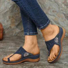 Women's PU Wedge Heel Sandals Slippers shoes