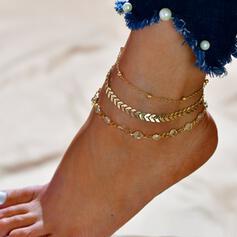 Charming Alloy Anklets 3 PCS