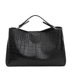 Dumpling Shaped/Vintga/Commuting/Crocodile Embossed /Puffy Crossbody Bags/Shoulder Bags/Boston Bags/Hobo Bags