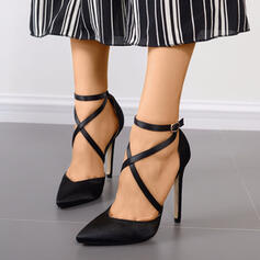 Women's PU Stiletto Heel Pointed Toe With Lace-up shoes