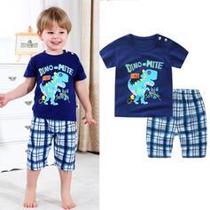 2-pieces Baby Boy Cartoon Print Cotton Set