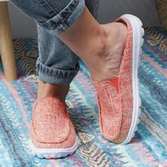 Women's PU Flat Heel Flats With Elastic Band shoes