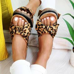 Women's PVC Flat Heel Sandals Flats With Bowknot shoes