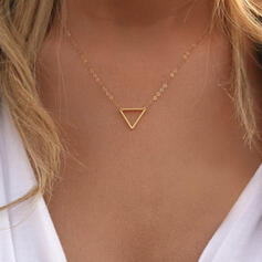 Simple Triangle Alloy Women's Necklaces