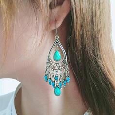 Exotic Boho Alloy Rhinestones Resin Earrings (Set of 2)
