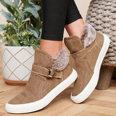 Women's Canvas Flat Heel Flats With Buckle shoes