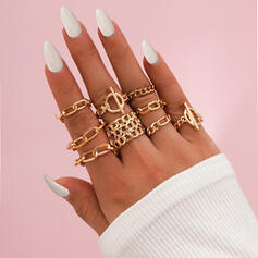 Hottest Link & Chain Alloy Rings (Set of 9)
