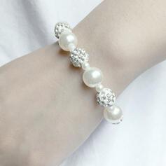 Fashionable Elegant Alloy Rhinestones Imitation Pearls Bracelets