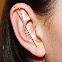 Shining Fashionable Simple Alloy Rhinestones Women's Earrings