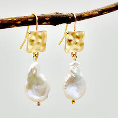 Attractive Elegant Alloy With Imitation Pearl Earrings (Set of 2)