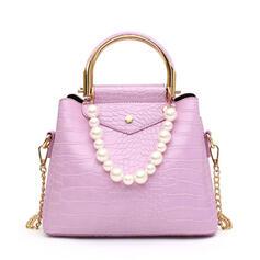 Dreamlike/Pearl Style/Alligator Pattern/Vintga/Bohemian Style Tote Bags/Crossbody Bags/Shoulder Bags/Bucket Bags