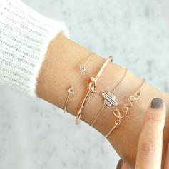 """Love You"" Alloy Rhinestones With Rhinestone Women's Bracelets (Set of 4)"