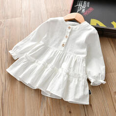 Toddler Girl Solid Cotton Dress