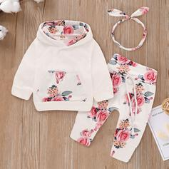 3-pieces Baby Girl Floral Cotton Set