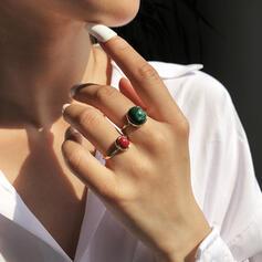 Boho Hottest Alloy Turquoise Rings 2 PCS