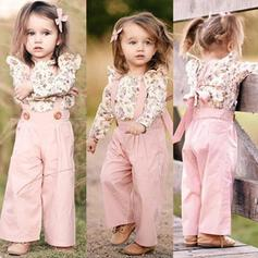 2-pieces Baby Girl Bowknot Floral Print Set