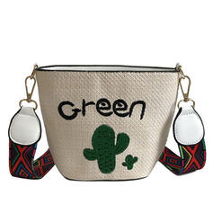 Delicate/Bohemian Style/Floral/Braided Shoulder Bags/Beach Bags/Bucket Bags/Hobo Bags
