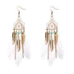 Unique Alloy Feather Women's Earrings