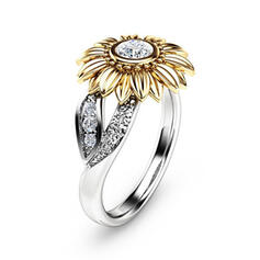 Hottest Fancy Alloy With Zircon Rings