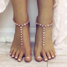 Charming Alloy With Zircon Beach Jewelry Anklets