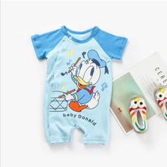 Baby Cartoon Print Cotton Jumpsuit